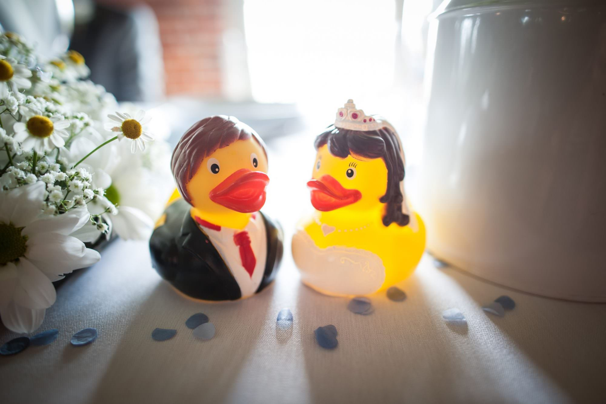 Duck themed wedding at Sopley Mill