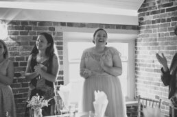 Bridesmaid at Sopley Mill wedding reception