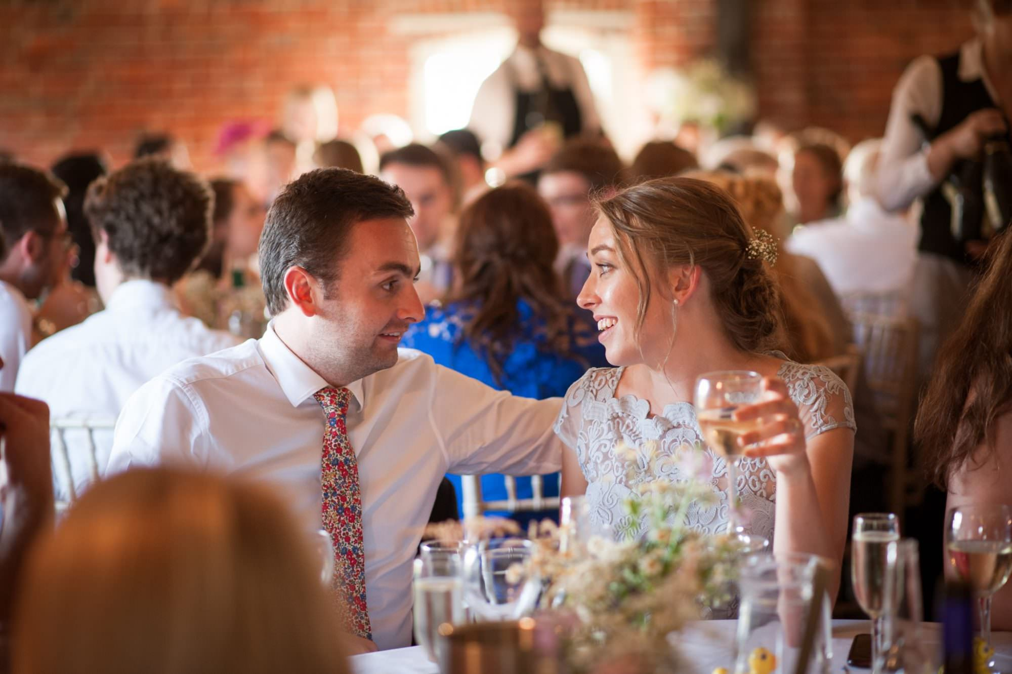 Photography of guests at Sopley Mill wedding