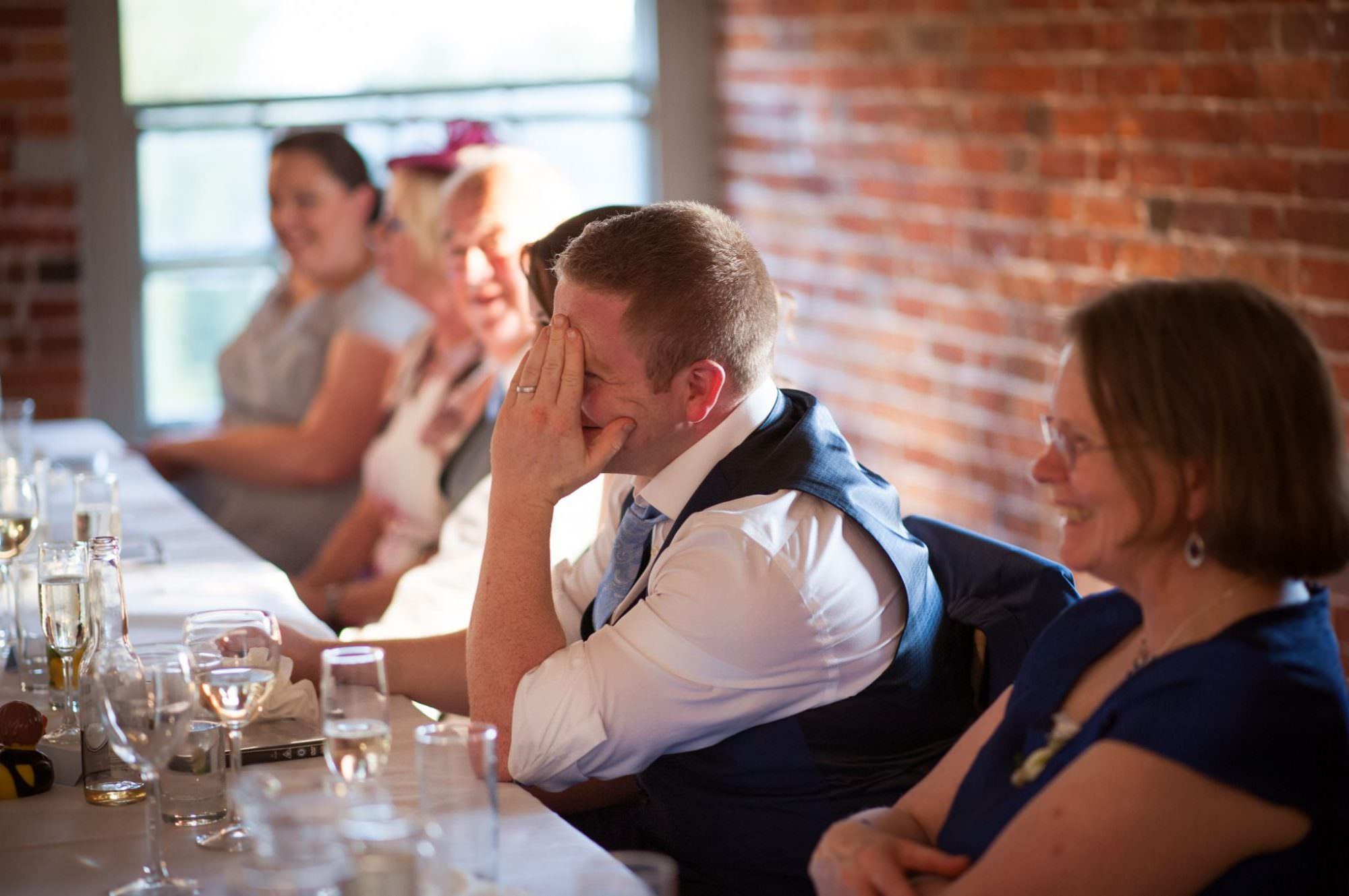Embarrassing the groom during the best man speech