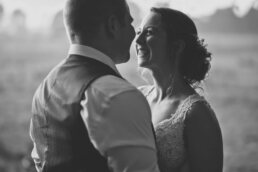 Dorset Bride wearing Martina Liana and Groom in waistcoat
