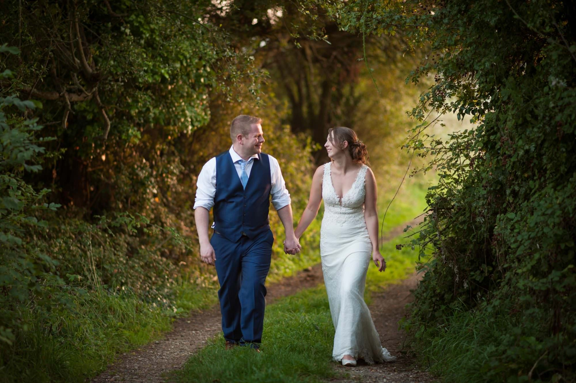 Dorset Golden hour wedding photographs