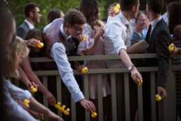 Wedding Photography of Dorset Duck Race at Sopley Mill
