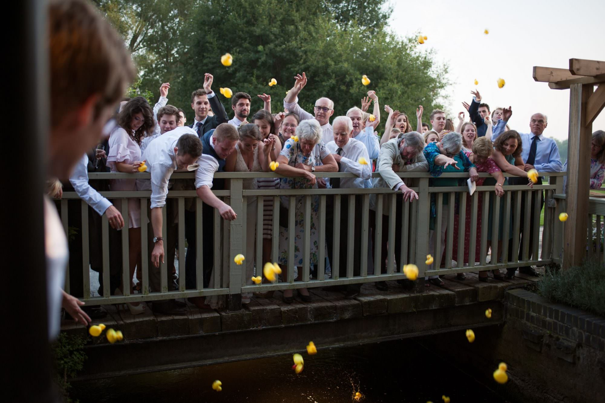 Sopley Mill duck race at Dorset Wedding