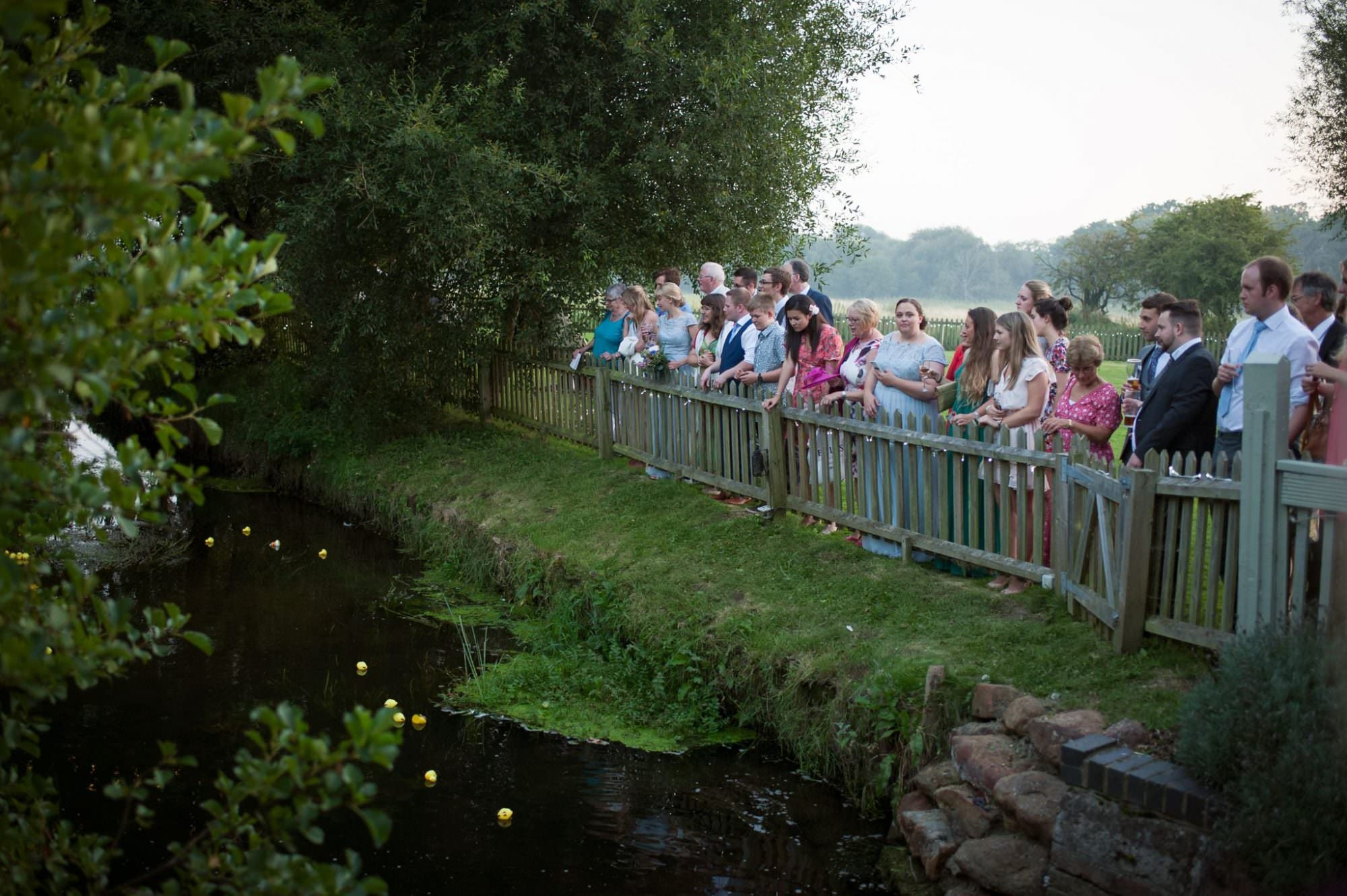 Sopley Mill Duck race during Dorset wedding day