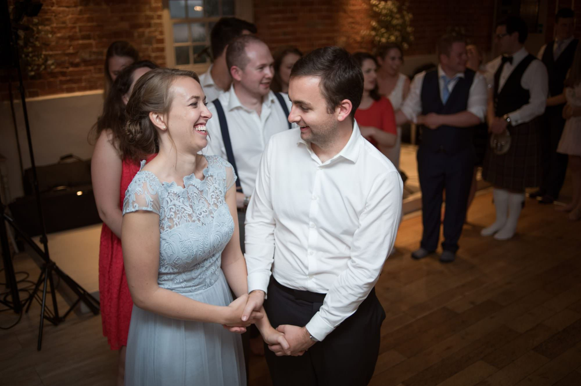 Wedding barn dance at Sopley Mill