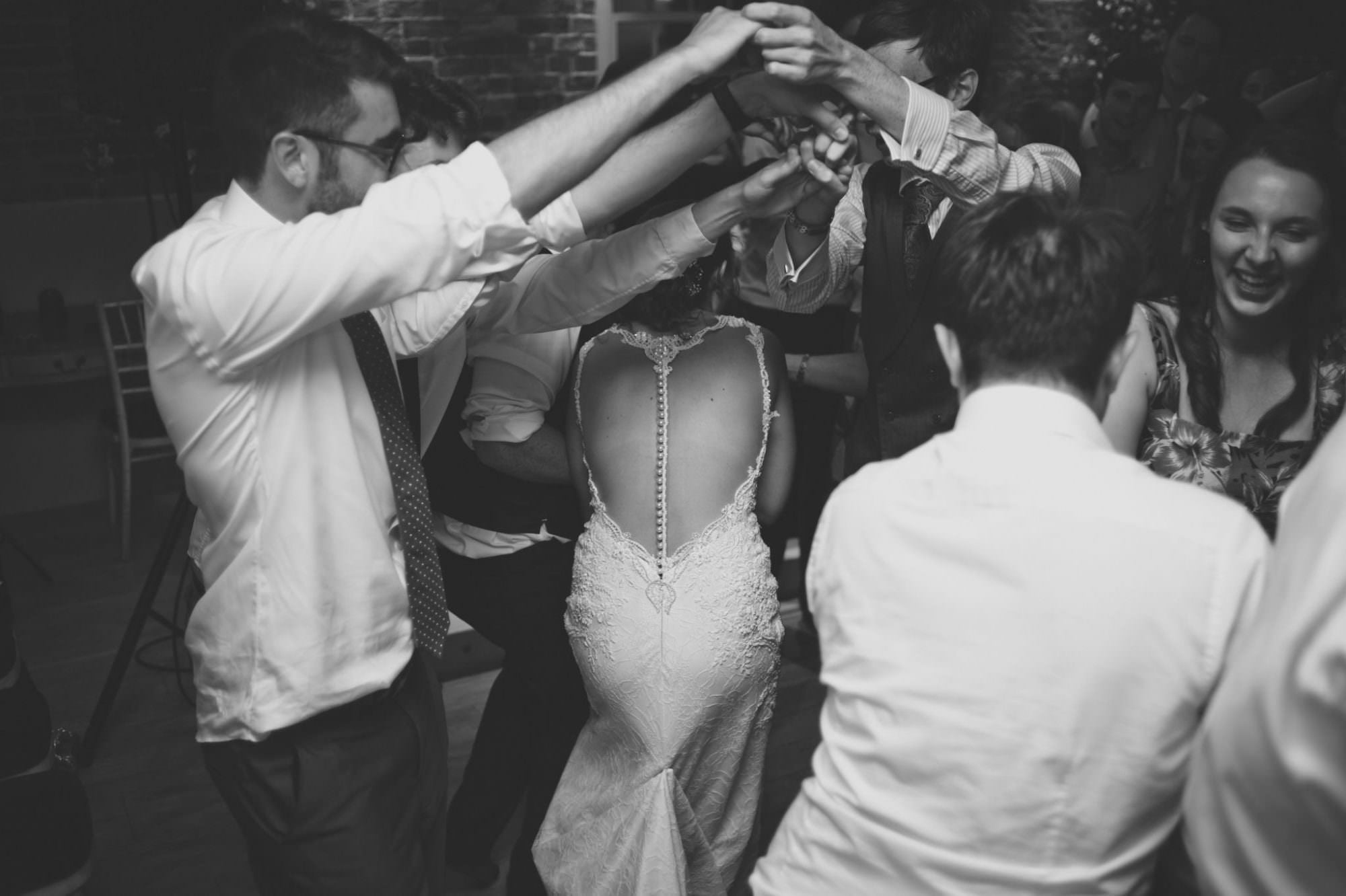 Dorset wedding dancing from Canford Magna Church wedding