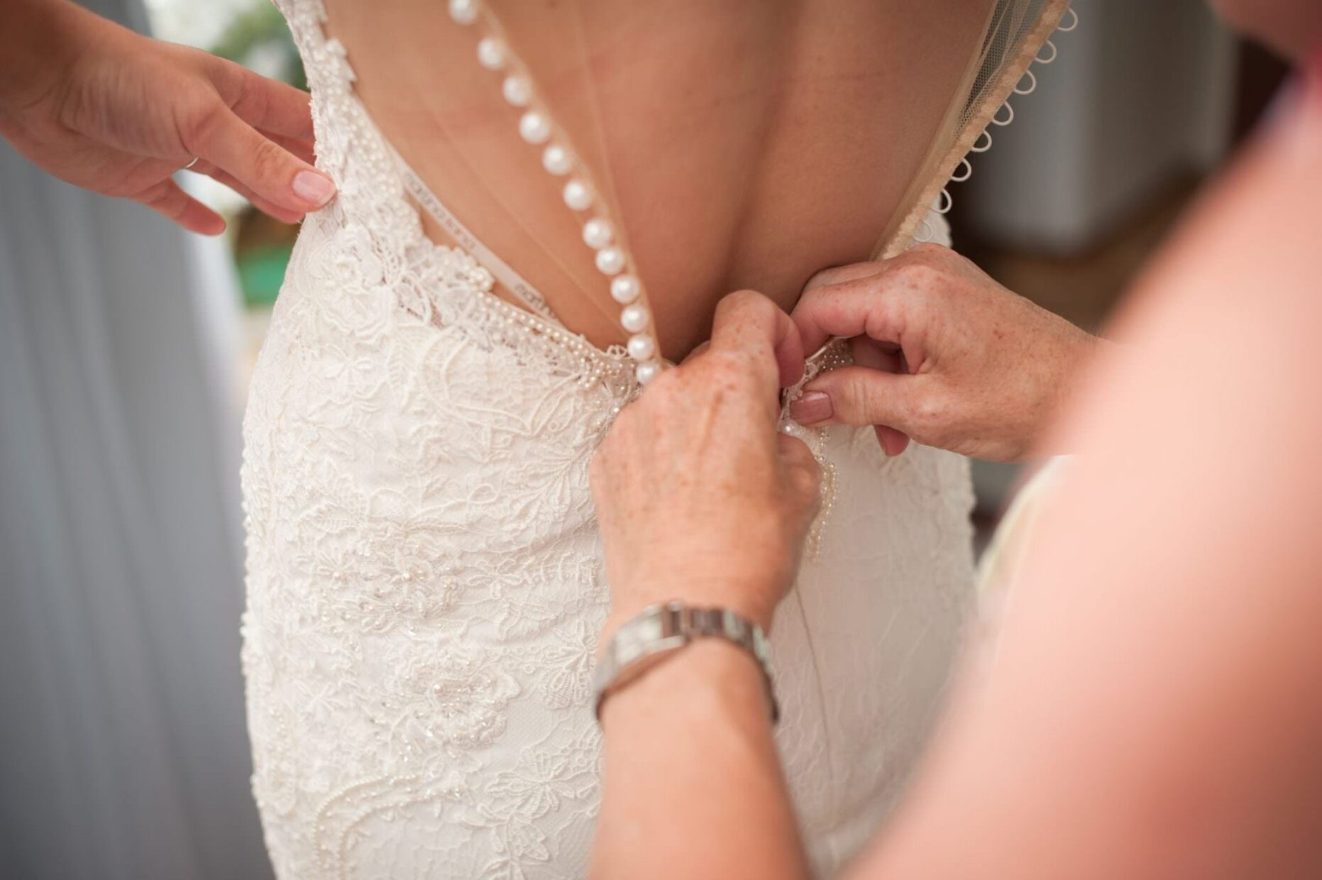 Dorset bride wearing Martina Liana Dress