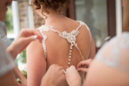 Detailed back on Martina Liana dress from Minster Gowns