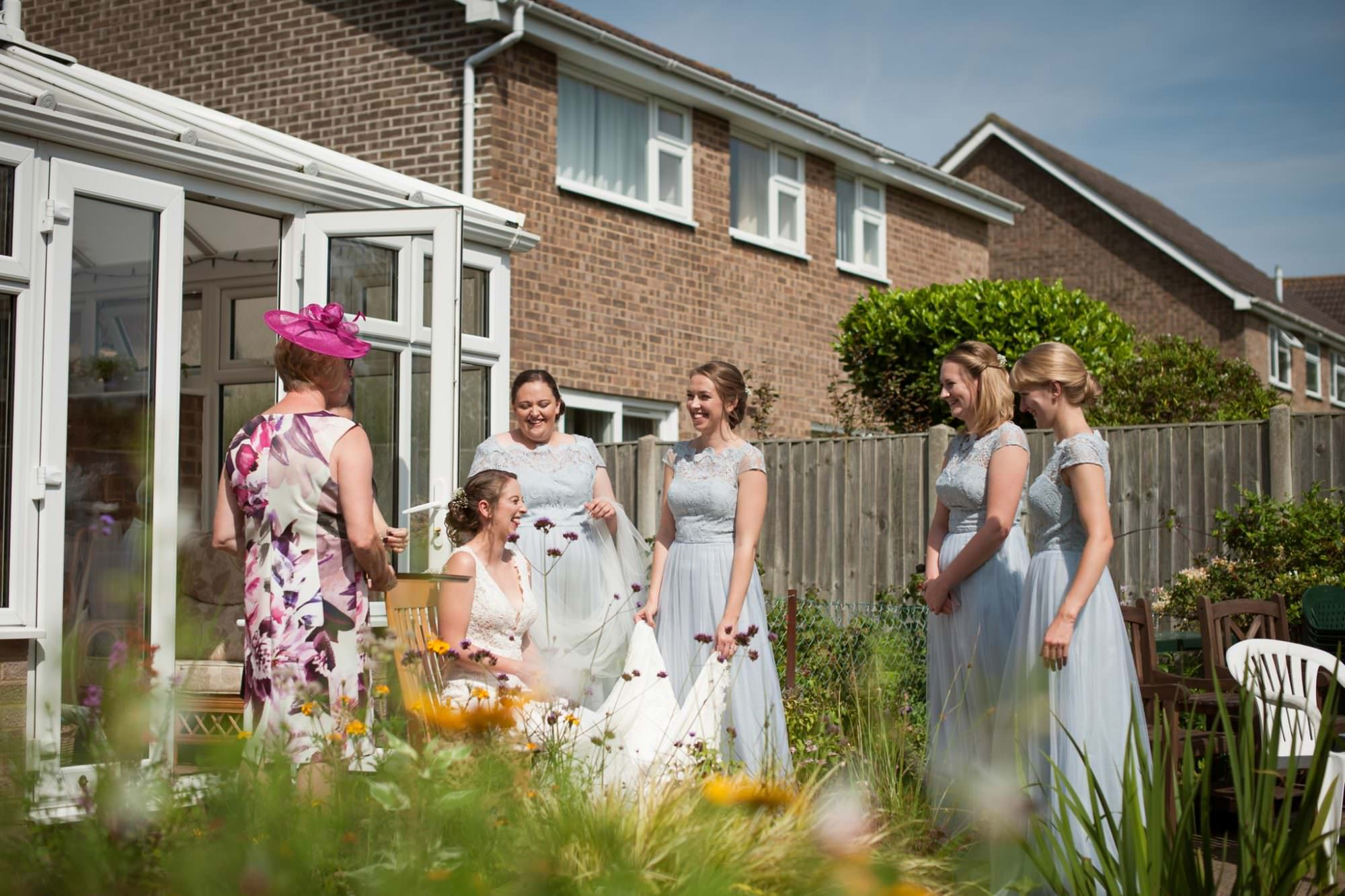Wedding photography at Colourful Dorset Garden