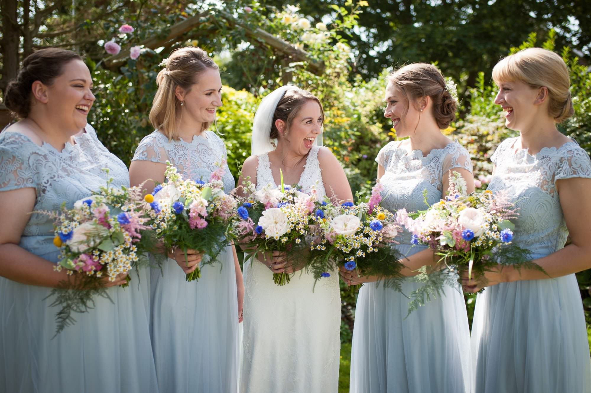 Photography of Dorset Bride with flowers