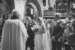 Bridal entrance at Canford magna church wedding
