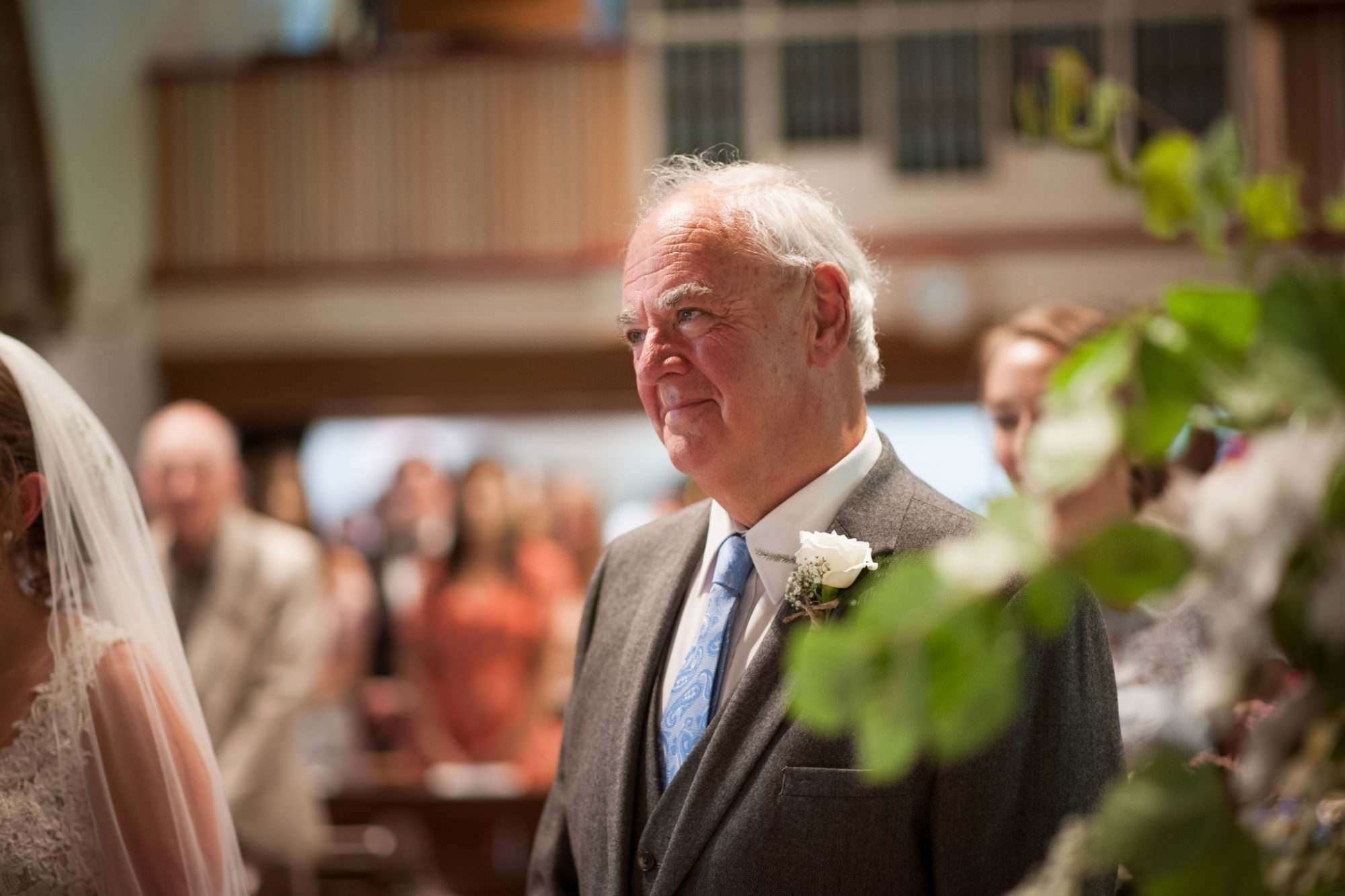Dorset Father of bride at Canford Magna church