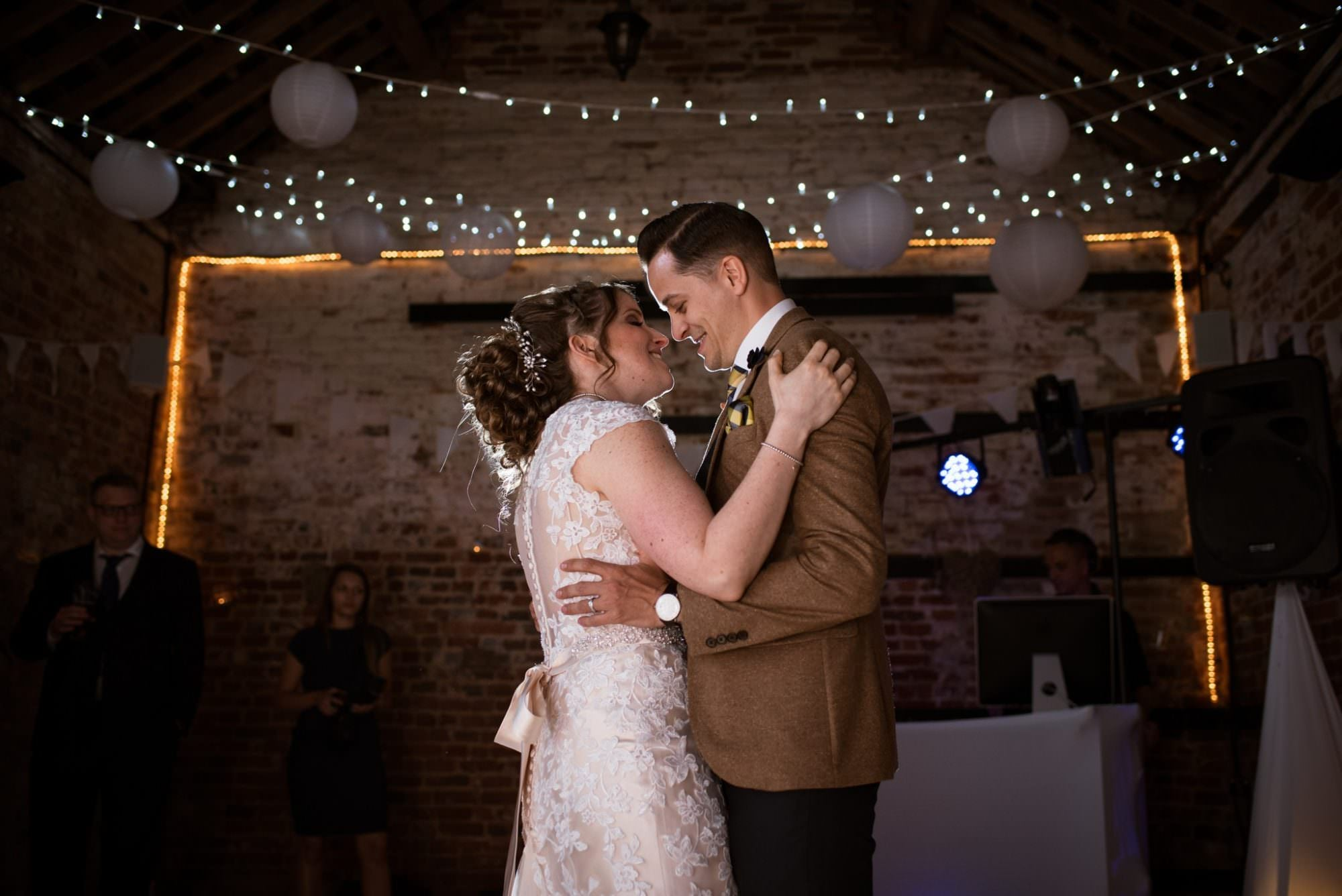 First Dance photo at The Three Tuns Hampshire Wedding venue
