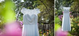 Photographs of Blue ChiChi dresses in Dorset Garden