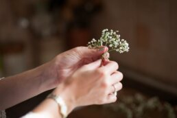 DIY Photograph of DIY flowers at Canford Manga Church Wedding
