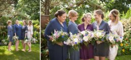 Colourful photograph of Dorset Bride and Bridesmaids