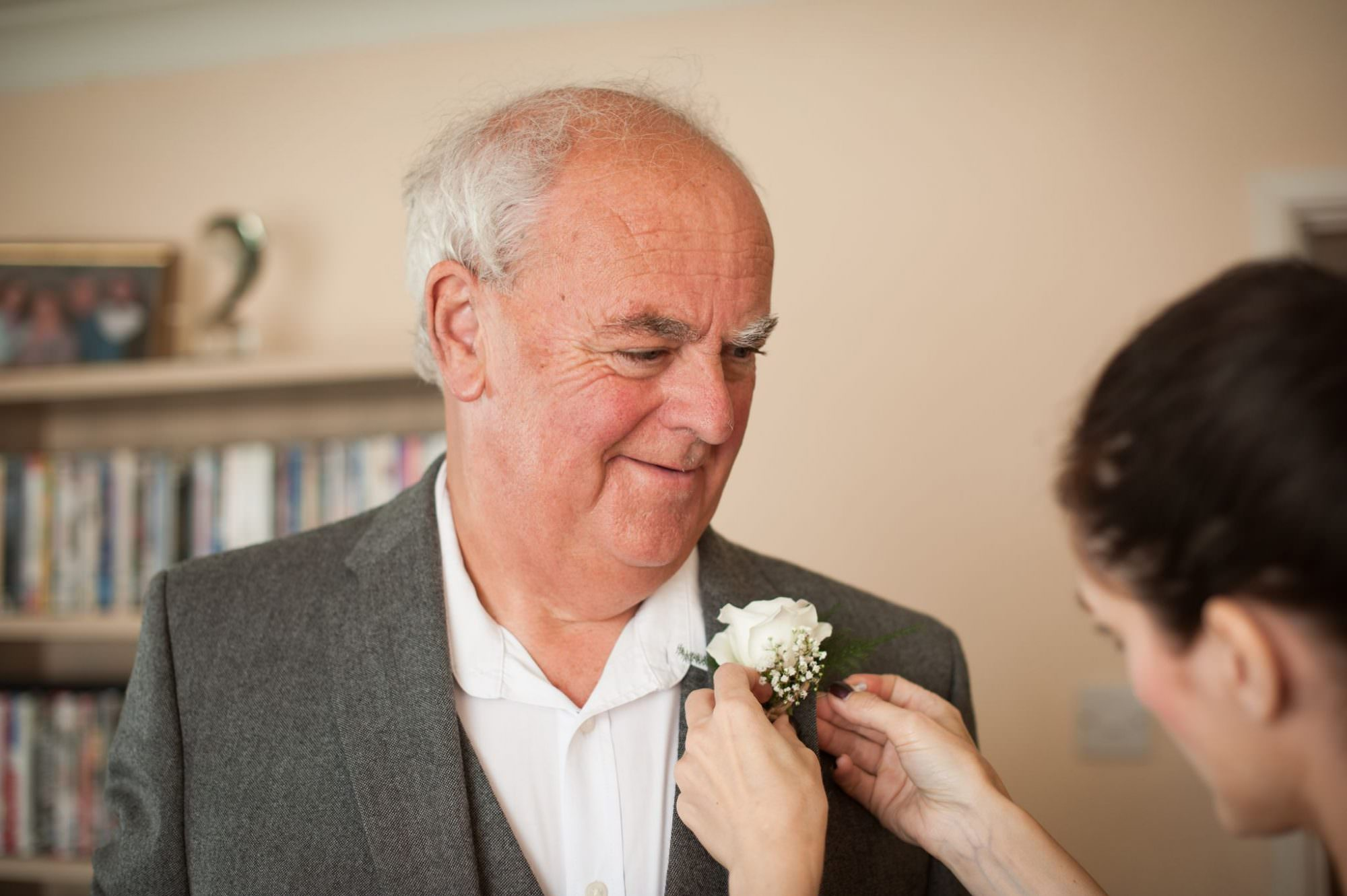 Father of Bride's Buttonhole with White Rose