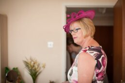 Dorset Mother of Bride wearing pink