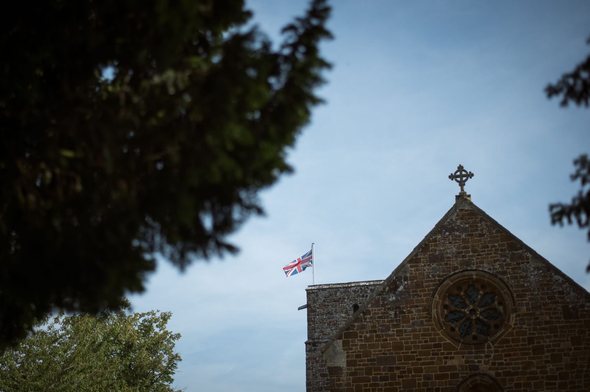 British flag at Canford Magna Church