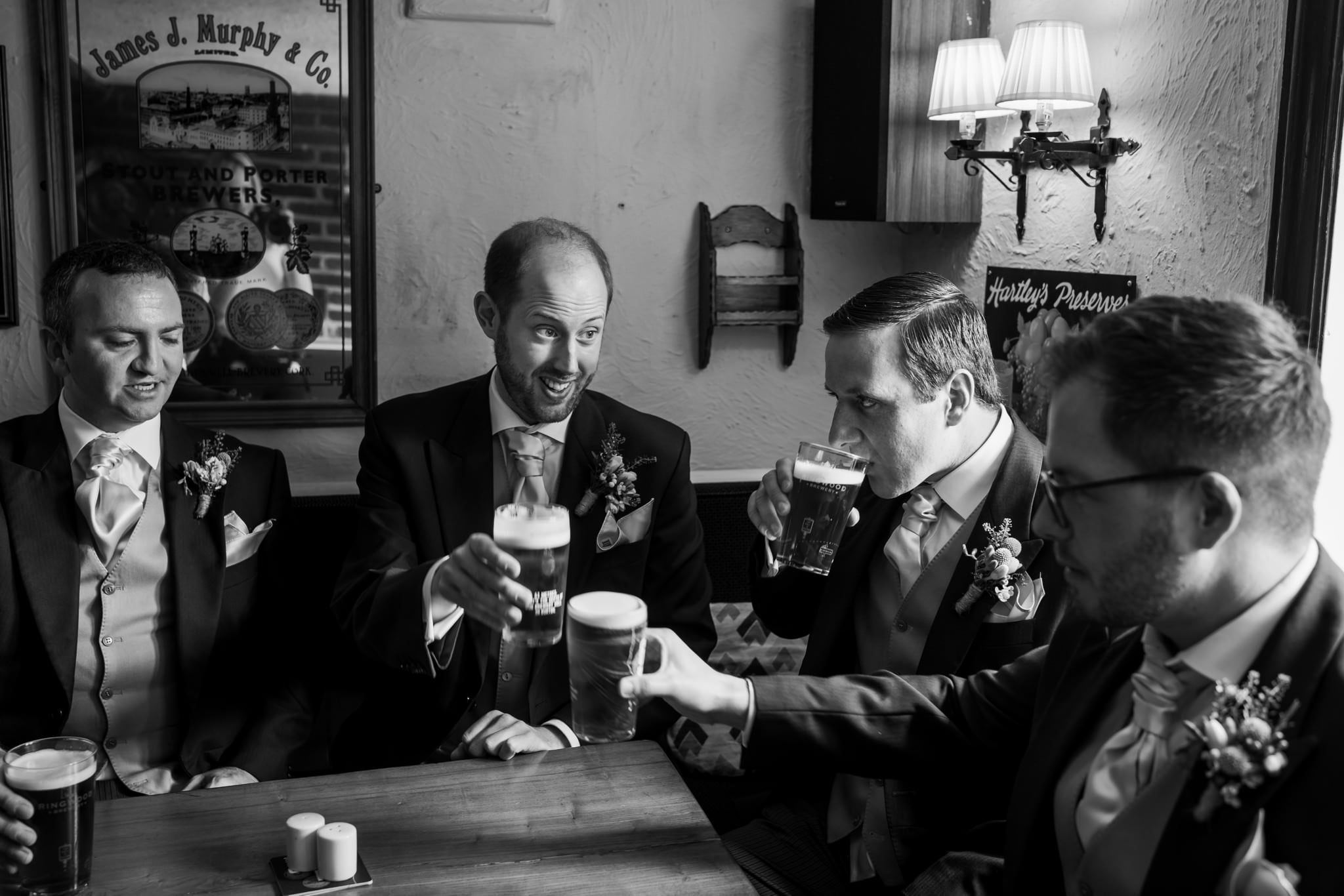 Photograph of Sopley Mill groomsmen