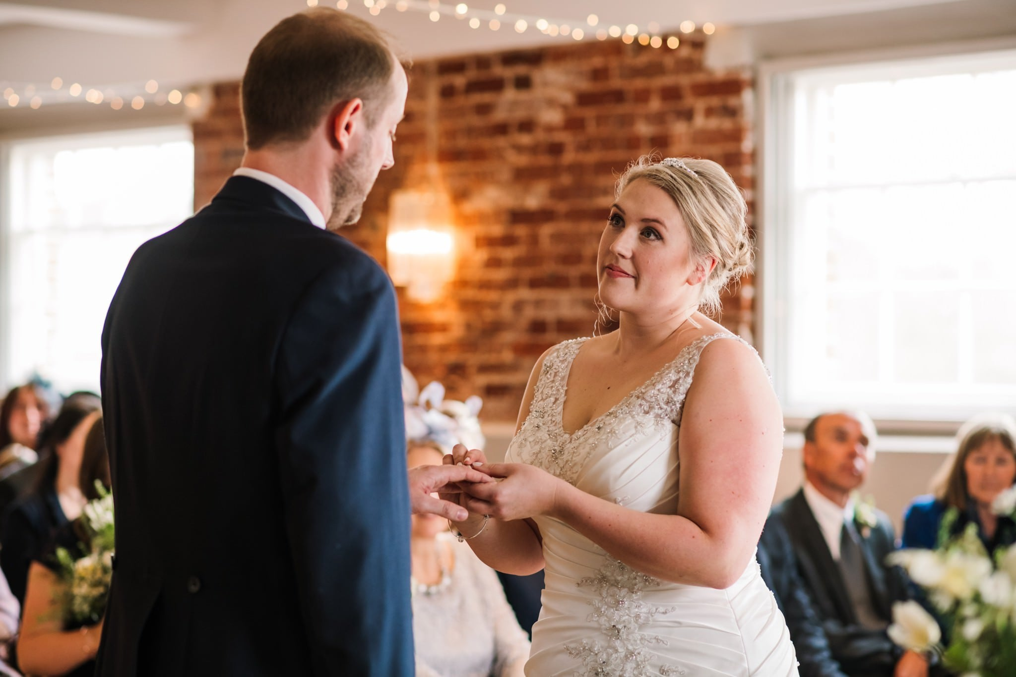 Wedding ceremony at Sopley Mill