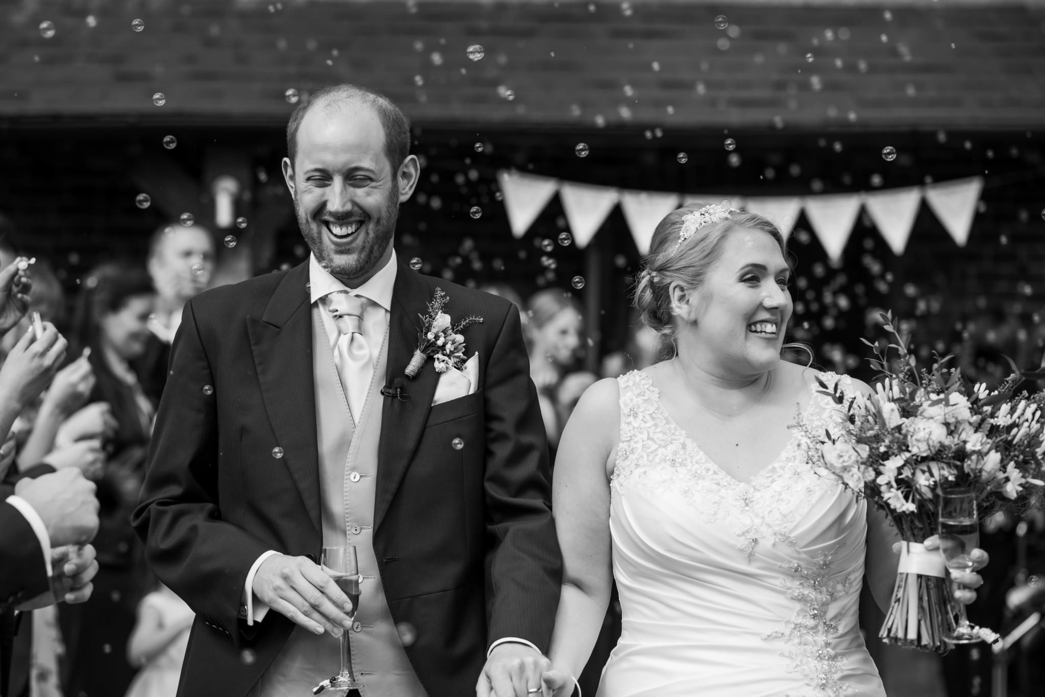 Bubble confetti alternative at Sopley Mill