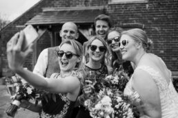 Selfie at Sopley Mill Wedding