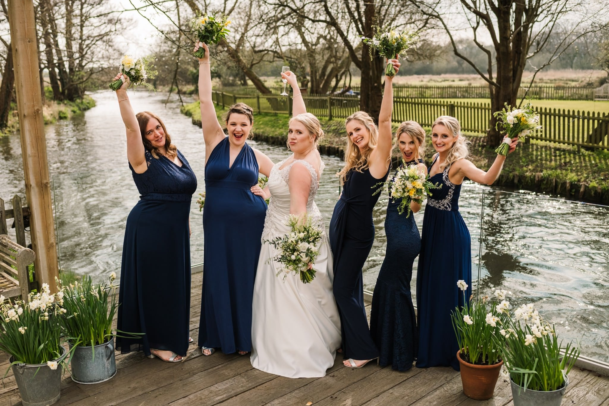 Bridesmaids at Sopley Mill Wedding