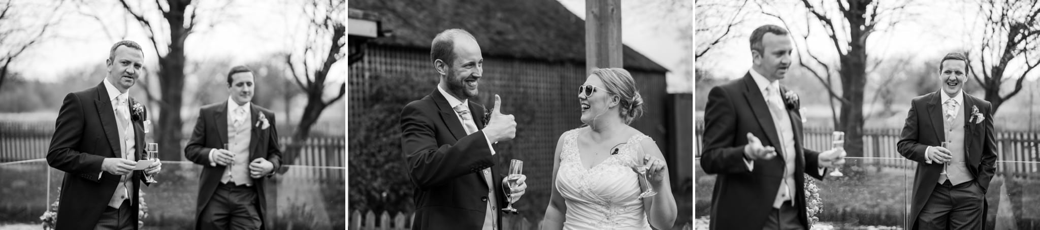 Documentary photography of speeches at Sopley Mill Wedding