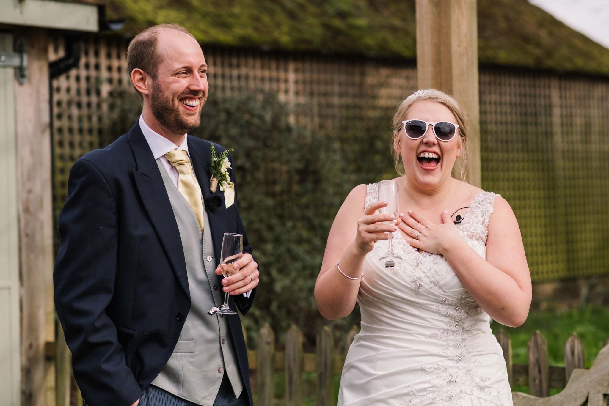Photography of outdoor speeches at Sopley Mill Wedding