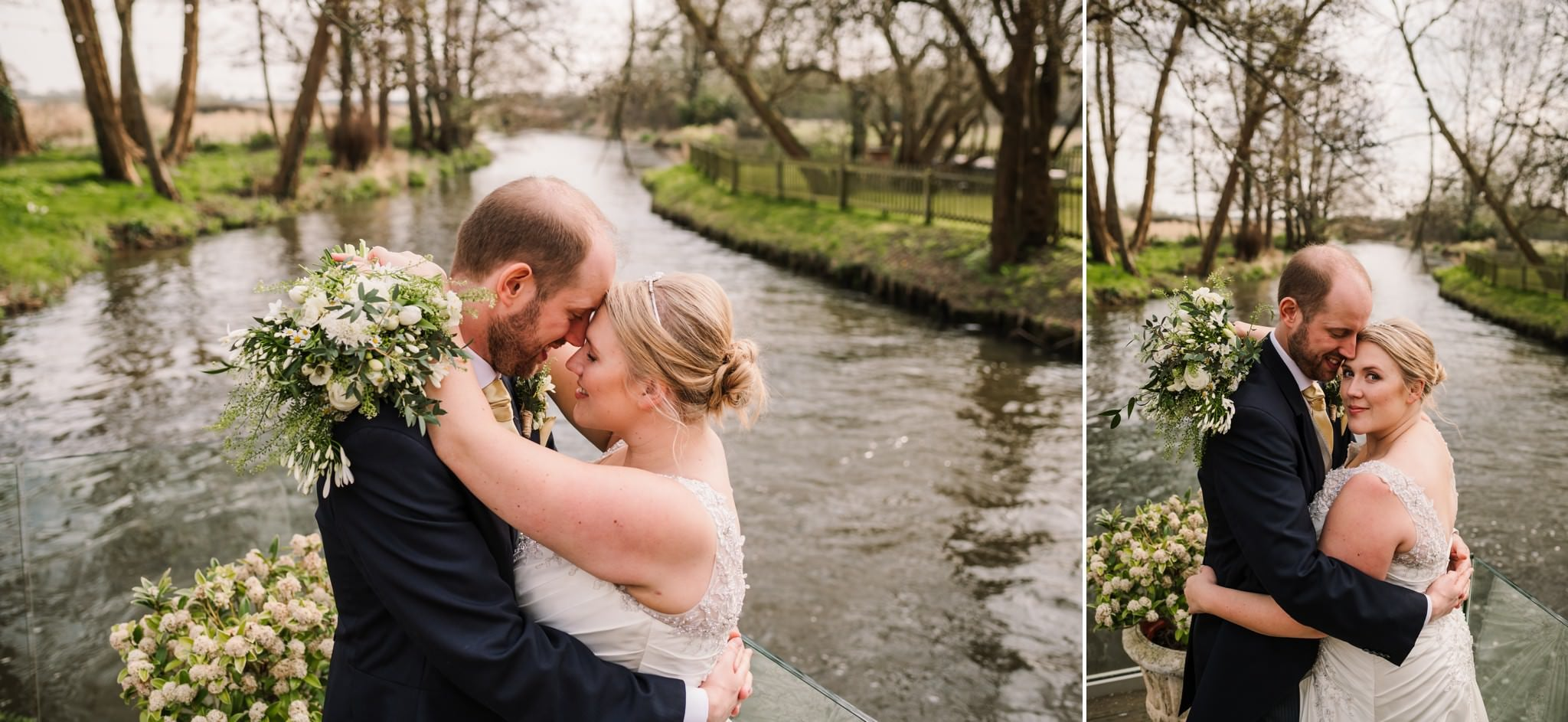 Couple portraits at Sopley Mill Wedding