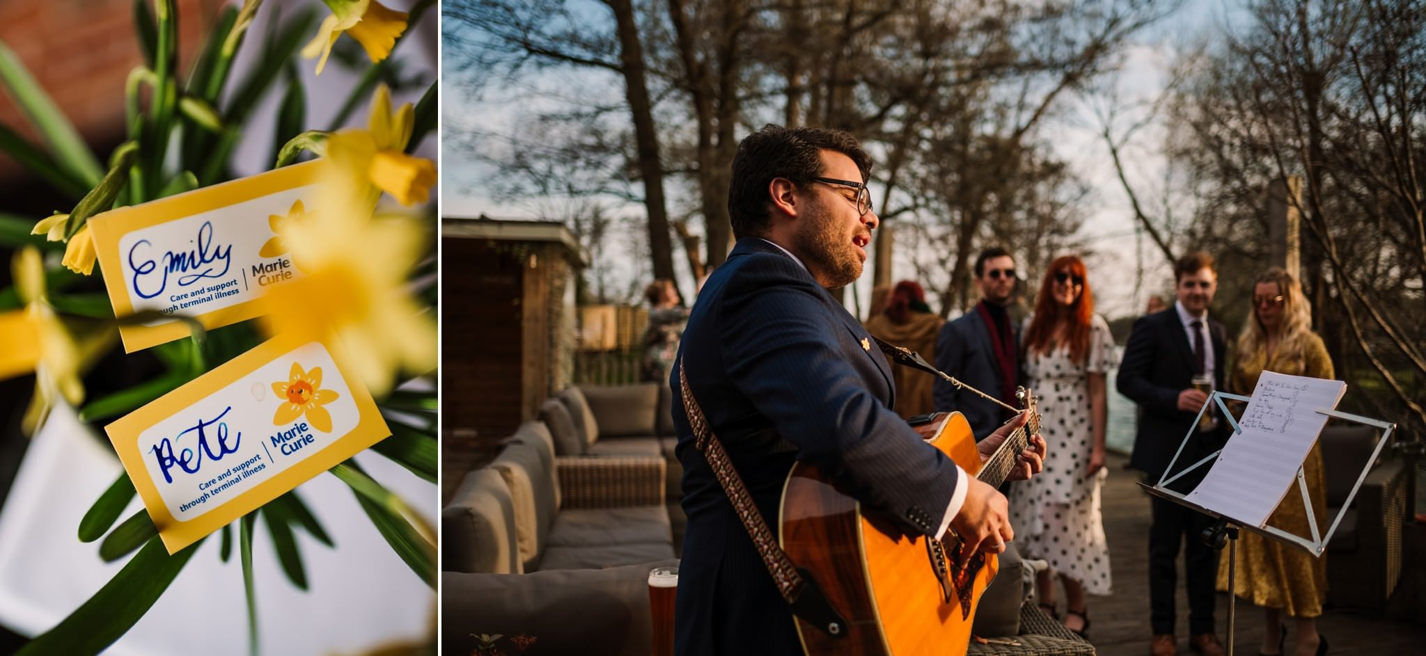 Singer guitarist at Sopley Mill Wedding