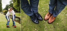 Shoes of same-sex Bournemouth Wedding