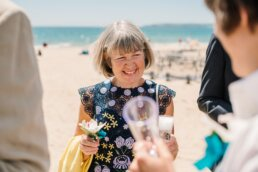 Natural photography at Bournemouth beach wedding
