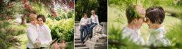 Same-sex Bournemouth Wedding photos in gardens