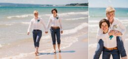 Bournemouth Wedding photography at the beach