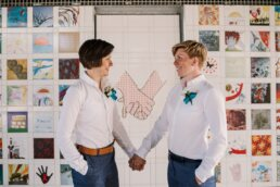 Gay wedding photography in Dorset