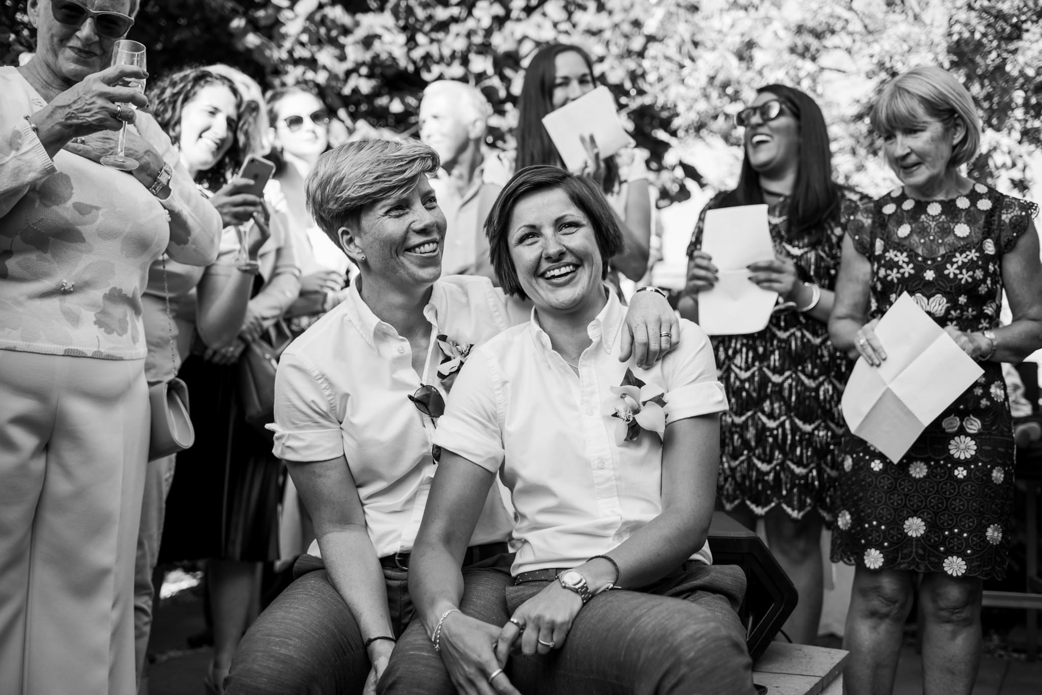 Photography of Dorset gay wedding
