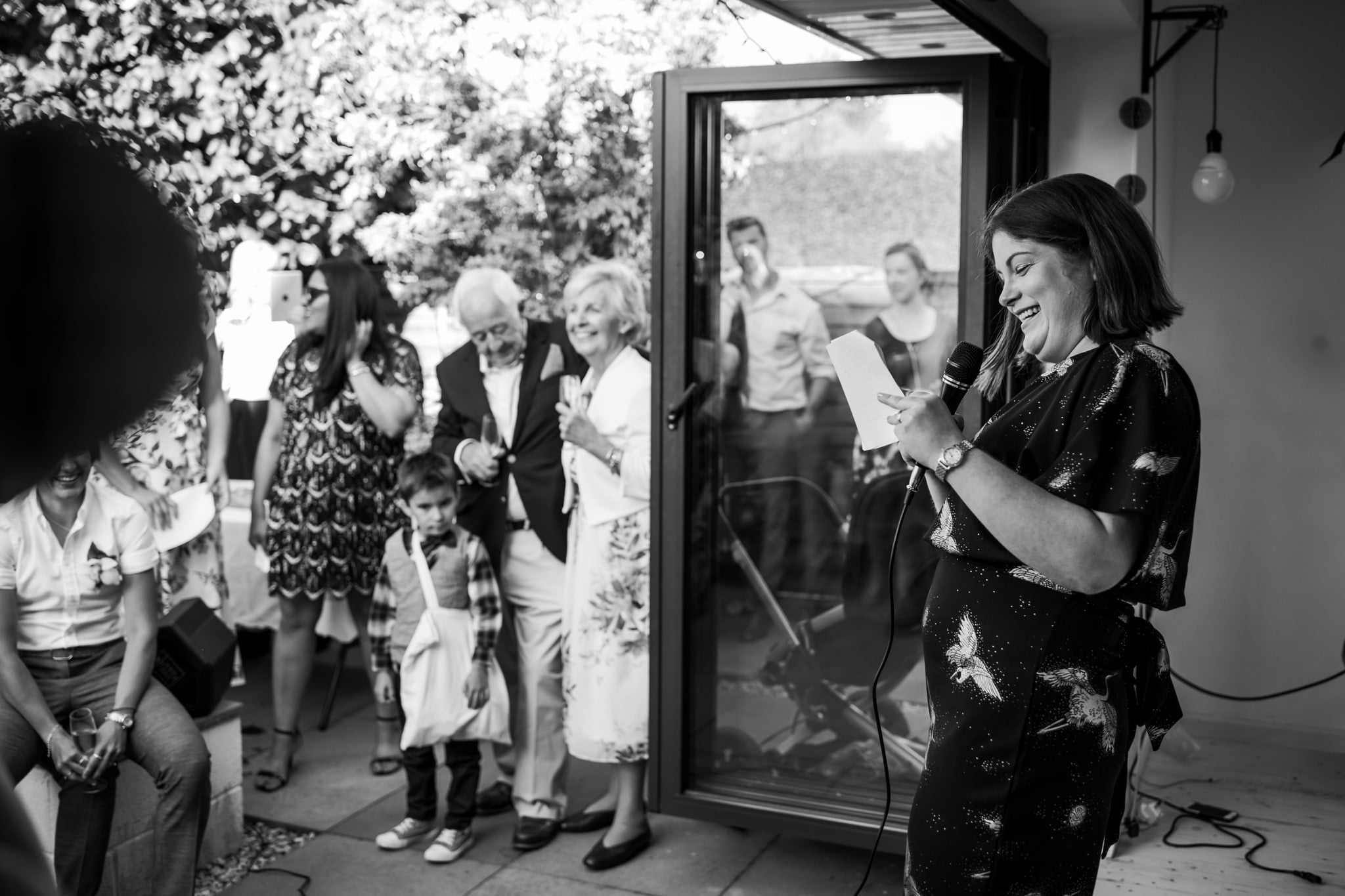 Speeches at Dorset garden wedding