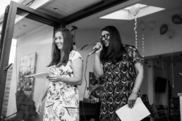 Bournemouth wedding speeches at garden wedding