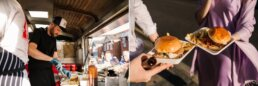 Wedding burgers at Flaming Peaches