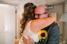 Sunflower wedding at Gordleton Mill