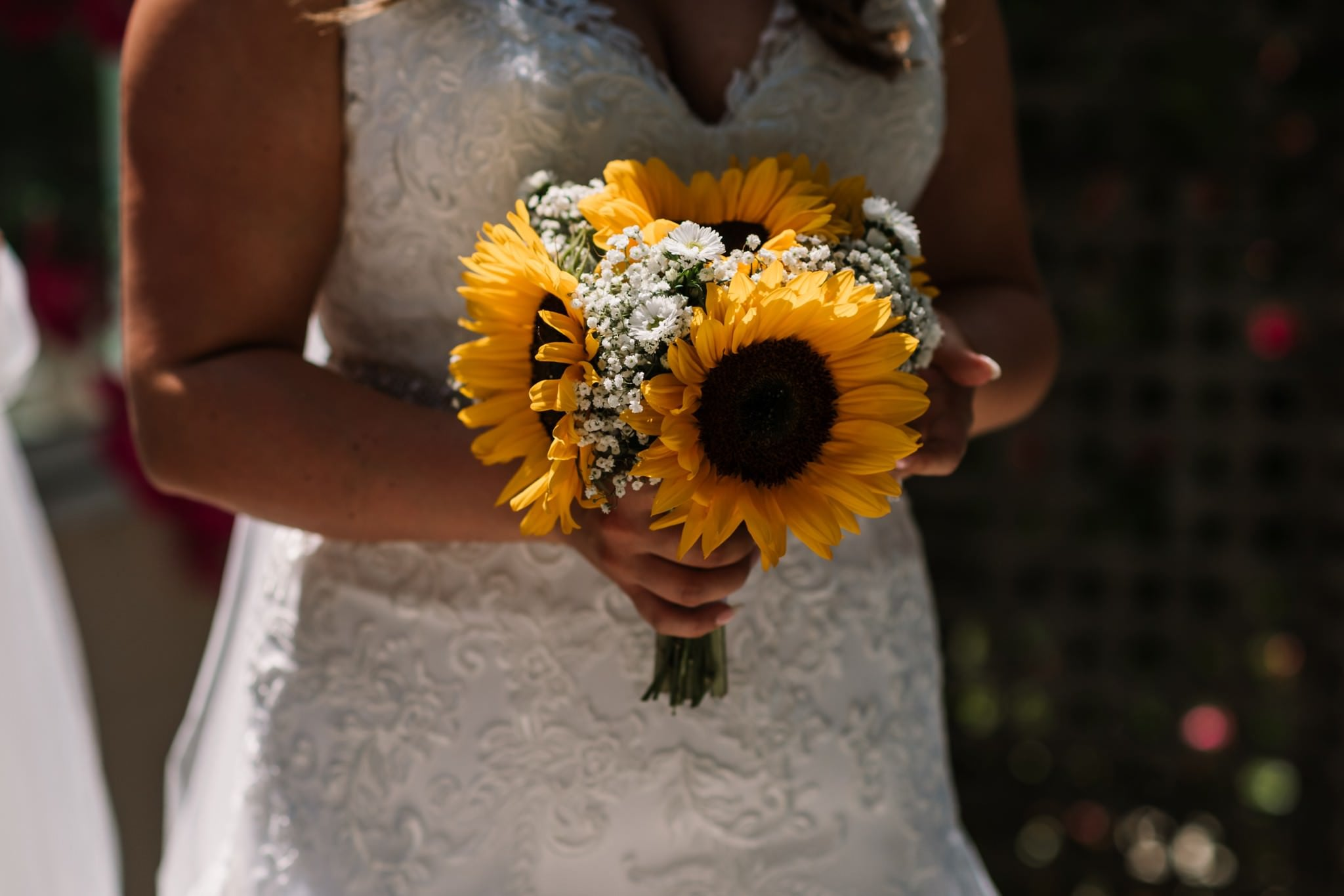 Sunflower bouquet at Gordleton Mill
