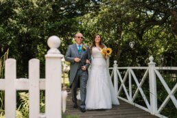 Outdoor wedding at The Mill at Gordleton