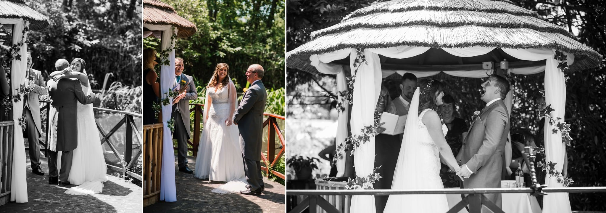 Wedding ceremony at Gordleton Mill