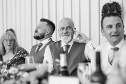 Wedding speeches at Gordleton Mill
