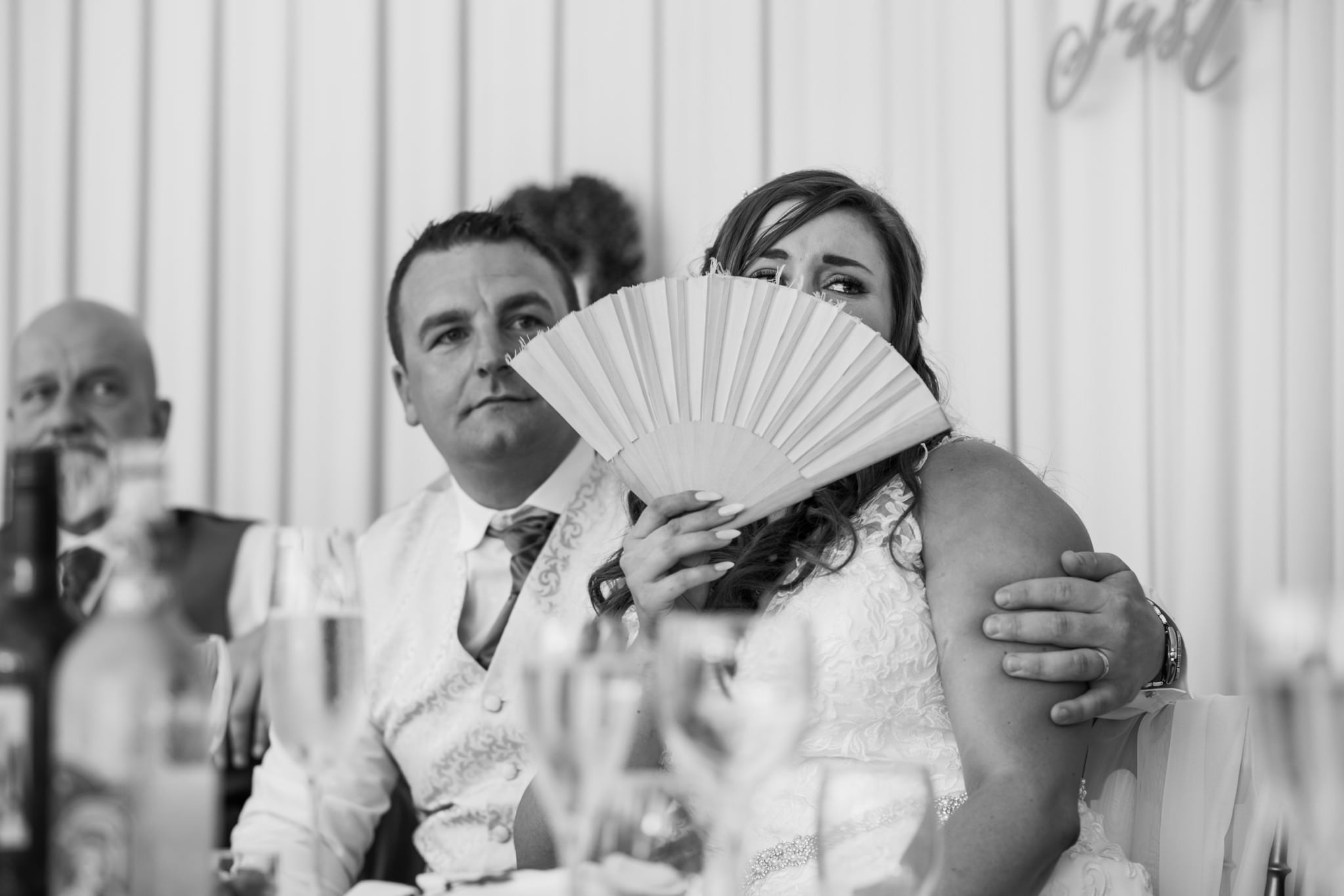 Photography of Gordleton mill wedding speeches by Hampshire Dorset wedding photographer