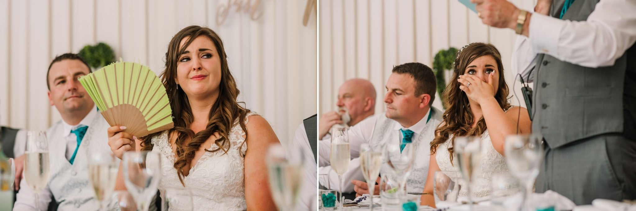 Photos of wedding speeches in New Forest