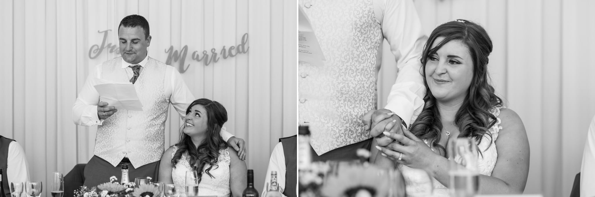 Black and white wedding photography at Gordleton Mill